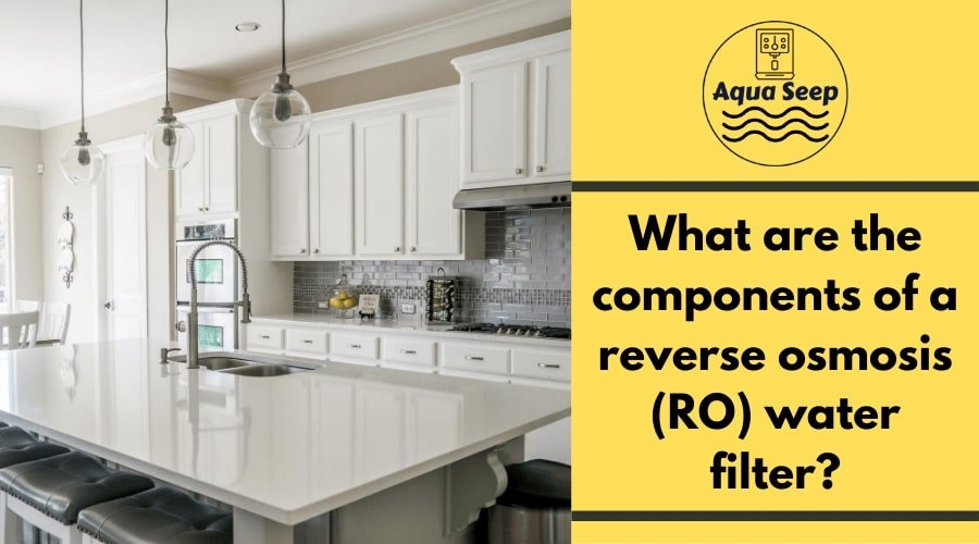 What are the basic components of a reverse osmosis (RO) water filter?