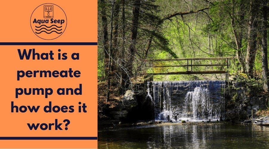 What is a permeate pump in reverse osmosis water filters and how does it work?